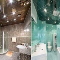 Зеркальные потолки для ванной комнаты