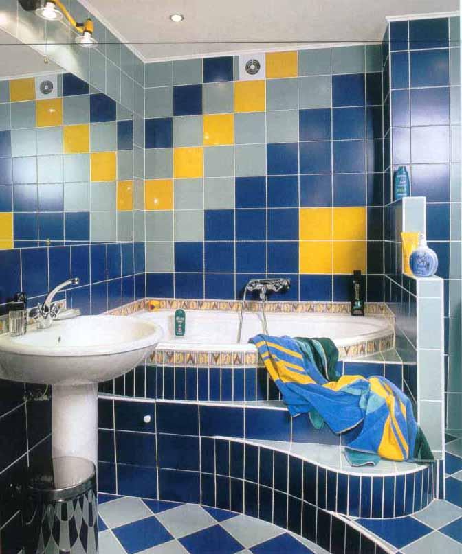 Укладка плитки в ванной комнате зонами