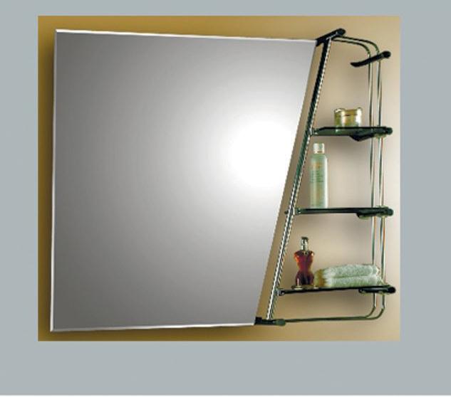 Зеркало для ванной с полкой