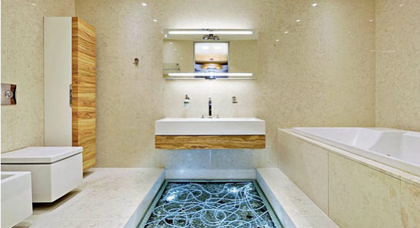 Интерьер ванной комнаты из проекта