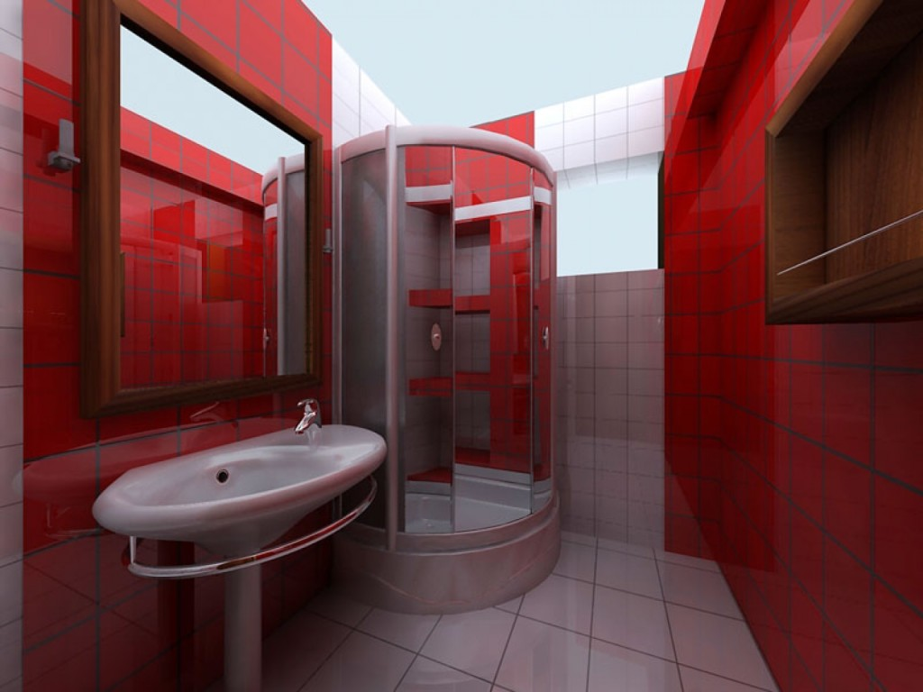для как оформить ванную комнату душевой кабиной все так