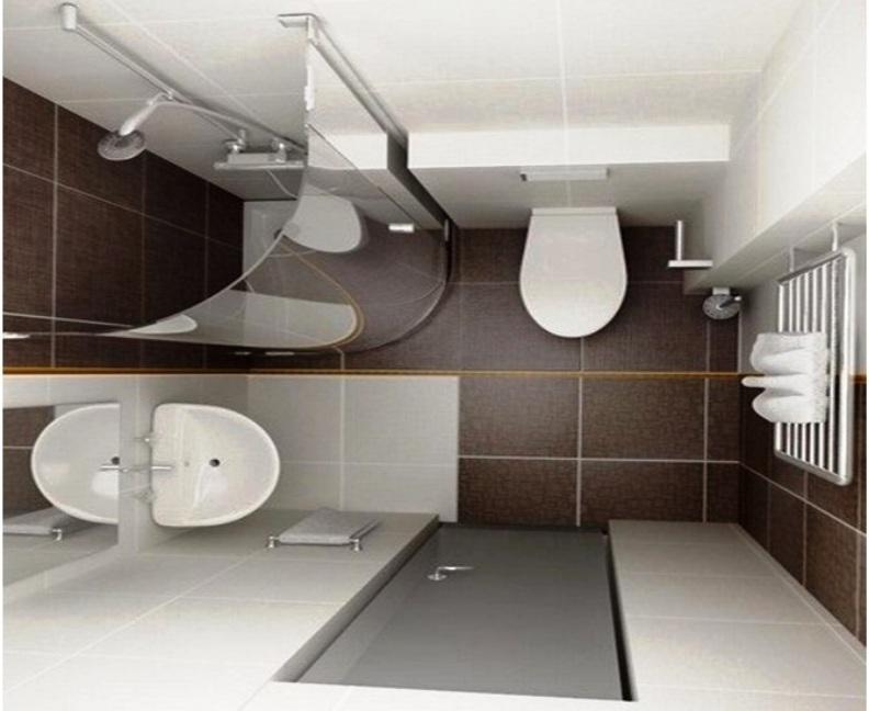 Ванная комната с душем хрущевка