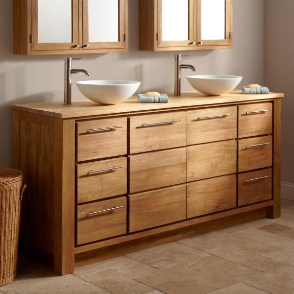 Деревянная мебель в ванную