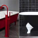 Дизайн ванной комнаты с ванной на ножках