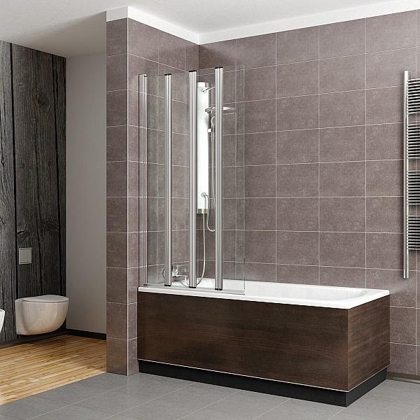 Дизайн ванны со стеклянной шторкой
