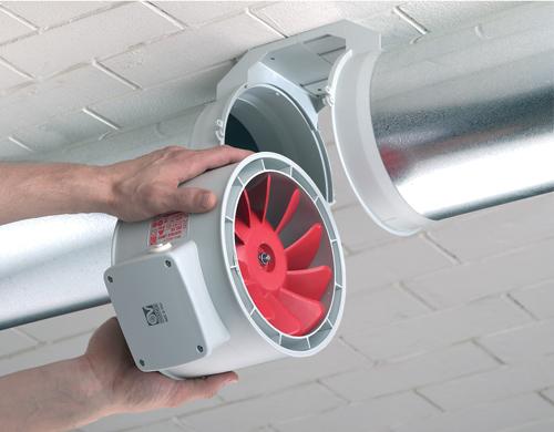 Канальный вытяжной вентилятор встраиваемый