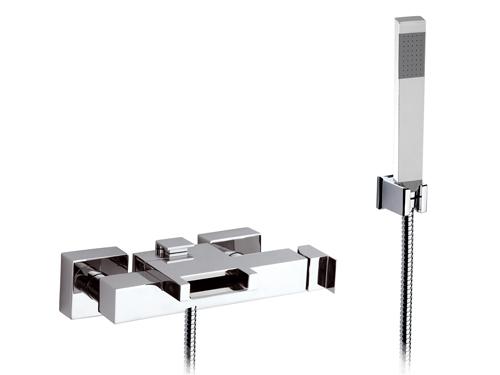 Каскадный смеситель для ванны, с душем и кронштейном