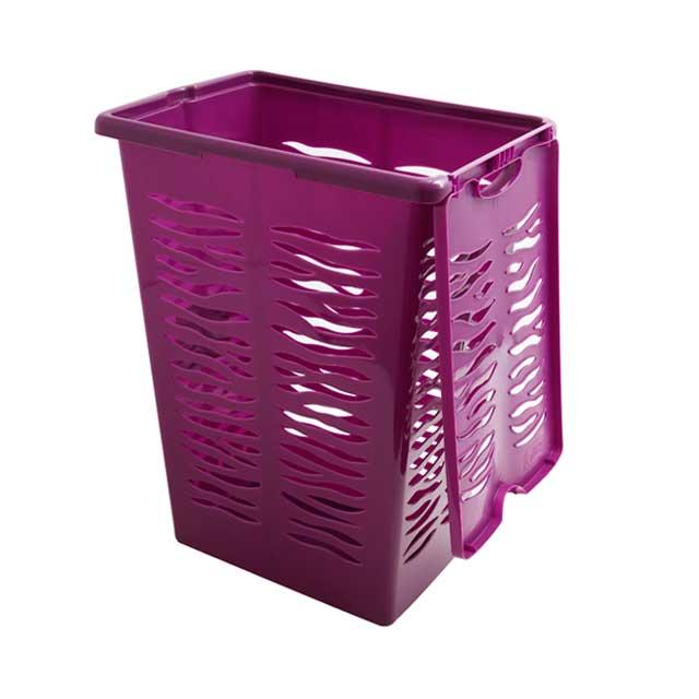 Корзина для белья фиолетового цвета