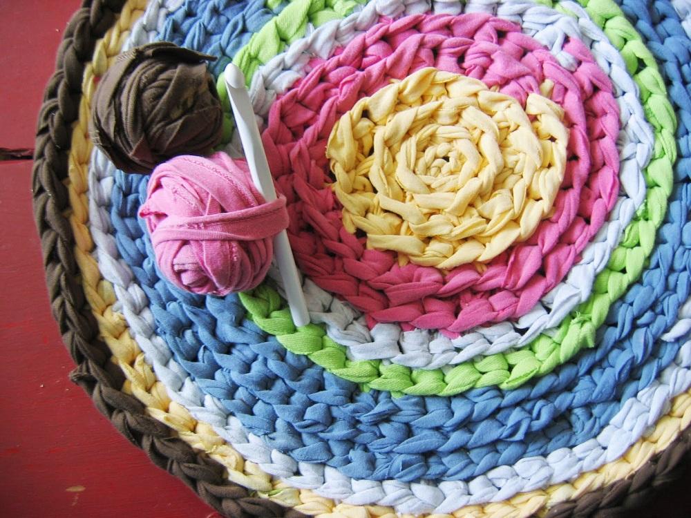 Мастер-класс вязания коврика