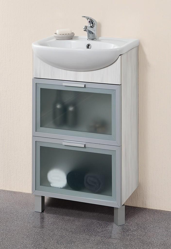 Мебель для ванной белого цвета
