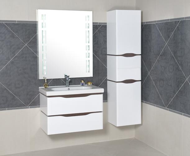 Мебель белого цвета для ванной комнаты
