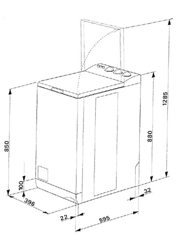Модель с вертикальной загрузкой