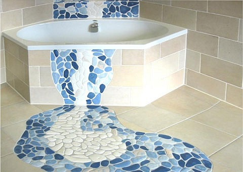 Мозаика — напольное панно