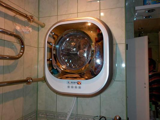 Настенная стиральная машинка