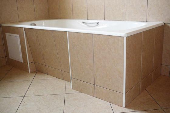 Неподвижный экран для ванной