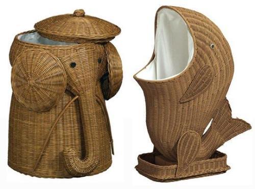 Оригинальная корзина для белья в форме слона