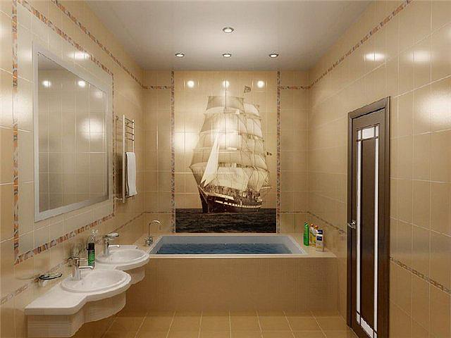 Панно в виде красивого корабля