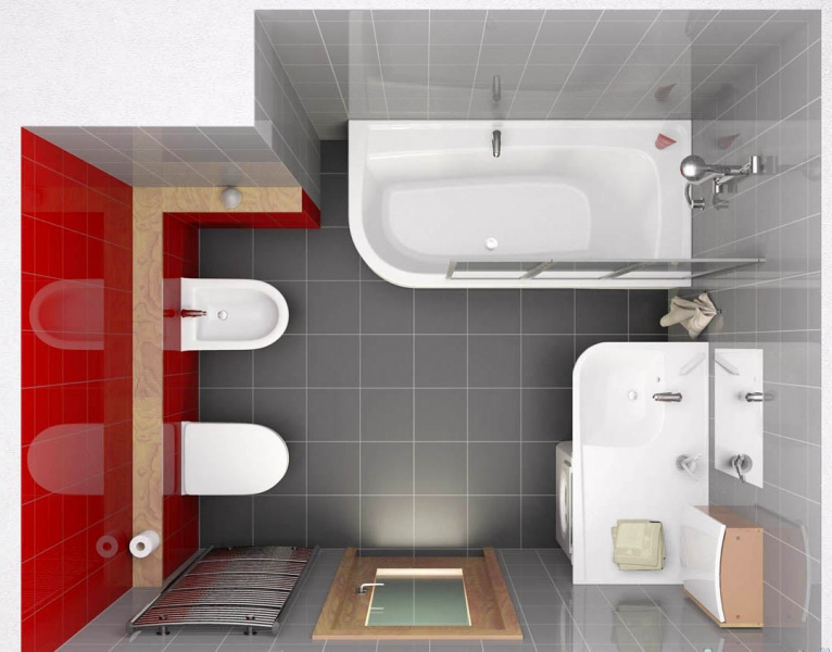 Размеры ванной комнаты по стандарту