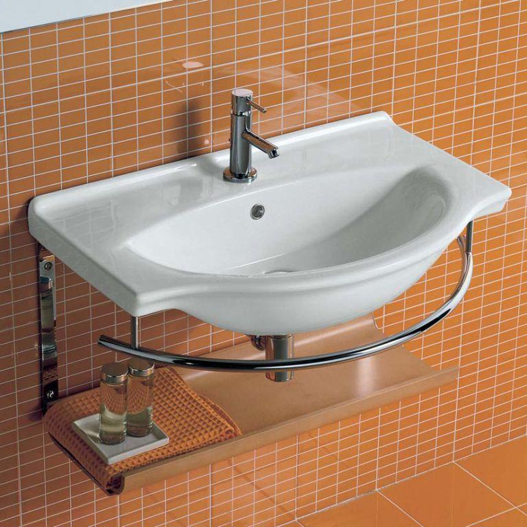 Подвесной умывальник в ванную комнату
