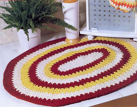 Пример вязанного коврика