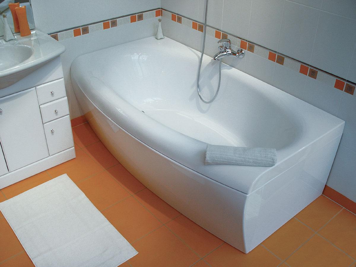 Прямоугольная акриловая ванна
