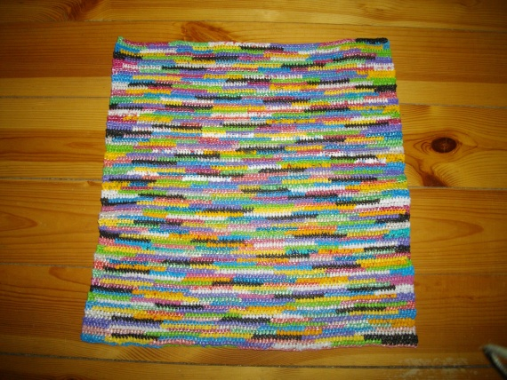Разноцветный коврик для ванной