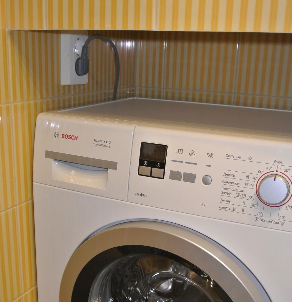 Розетка для стиральной машинки