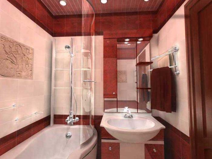 Ширма из стекла по форме ванны