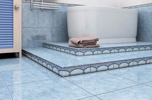 Самыми популярными материалами для устройства пола в ванной остаются керамика и каменная плитка