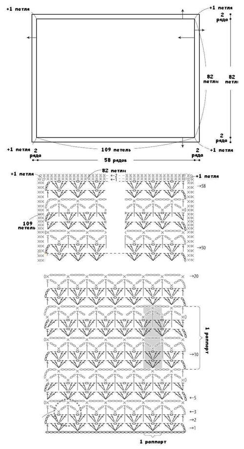 Как связать квадратный коврик