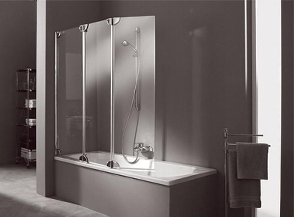 Складная шторка для ванны