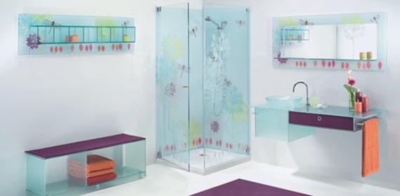 Стеклянная мебель в ванную