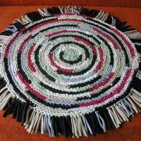 Вязанные коврики крючком для ванной комнаты