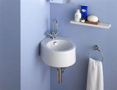 Угловой умывальник в ванную комнату