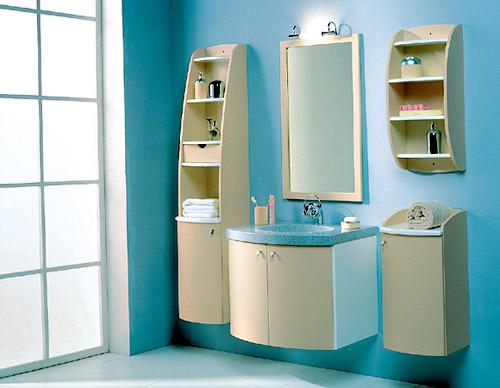 Мебель в ванную из современных материалов