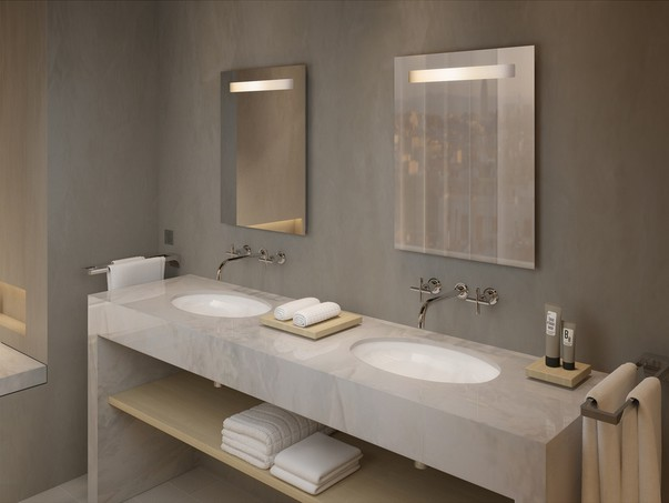 Встраиваемые смесители в интерьере ванной