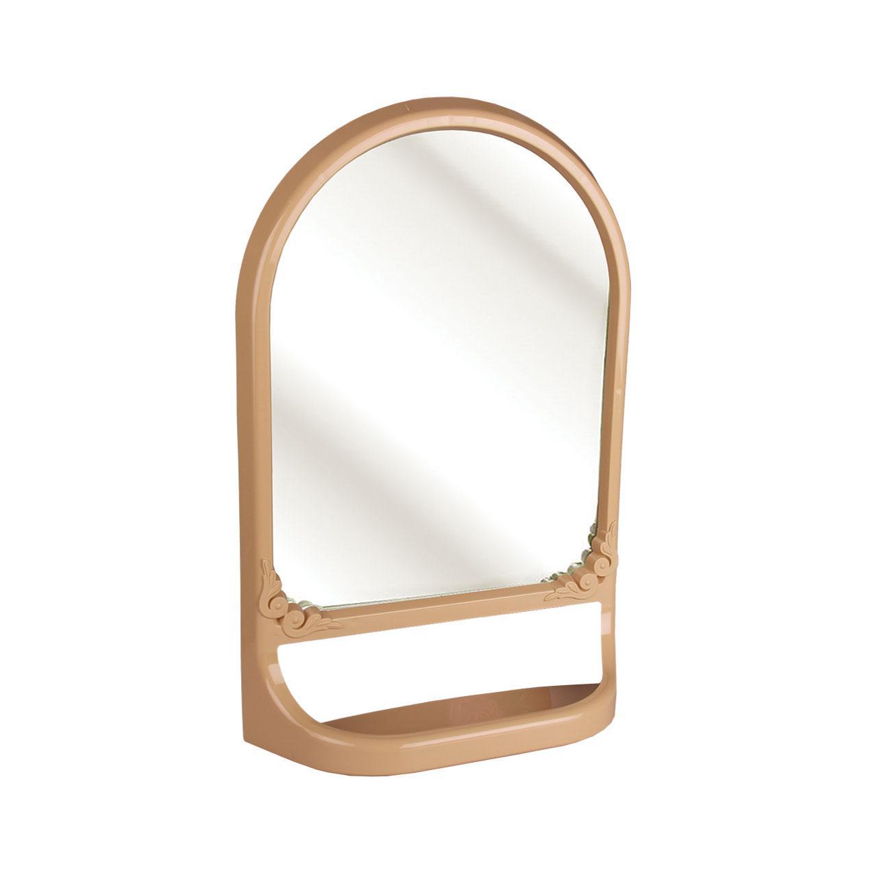 Зеркало с полкой (бежевое)