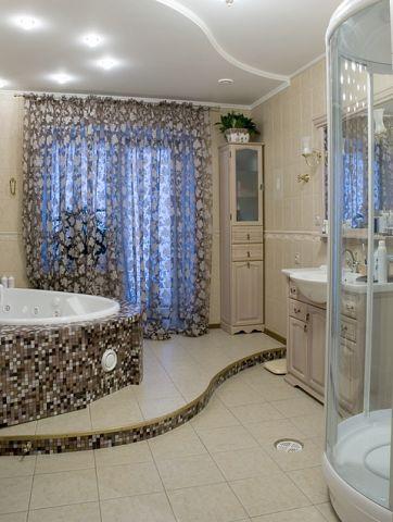 Отделочные материалы для зонирования ванной комнаты