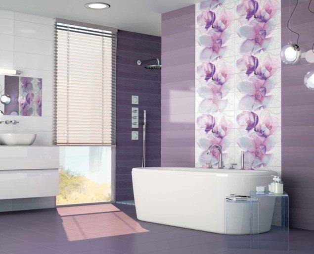 Испанская плитка в фиолетовых тонов