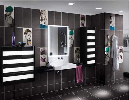 Картины из панно в ванной