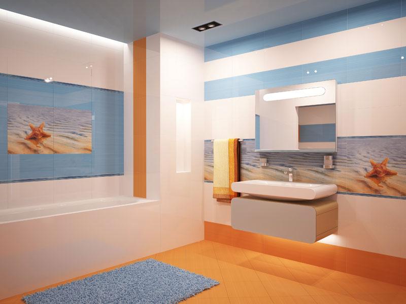 Керамическая плитка для ванной комнаты морская звезда