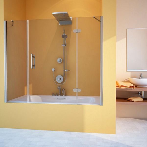 Распашная шторка для ванны с одной дверью
