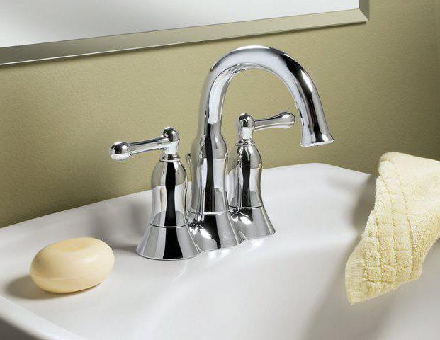 Смеситель для раковины с двумя вентилями для ванной