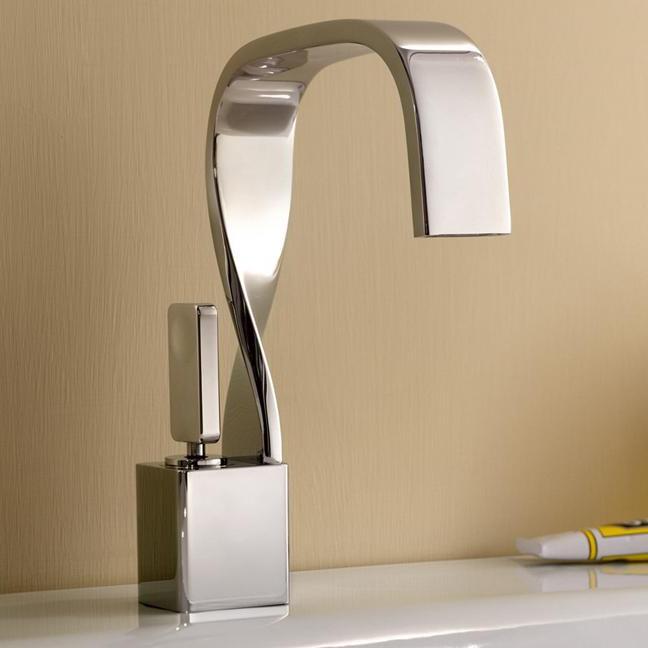 Смеситель для раковины оригинальной формы для ванной комнаты