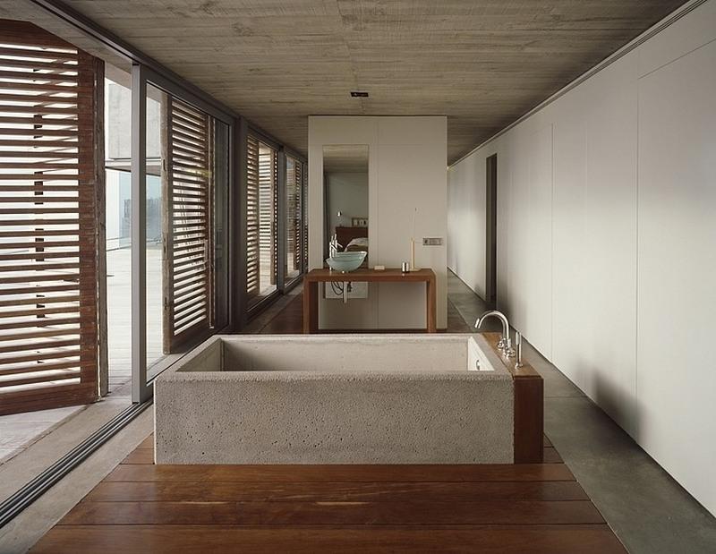 Ванная из бетона