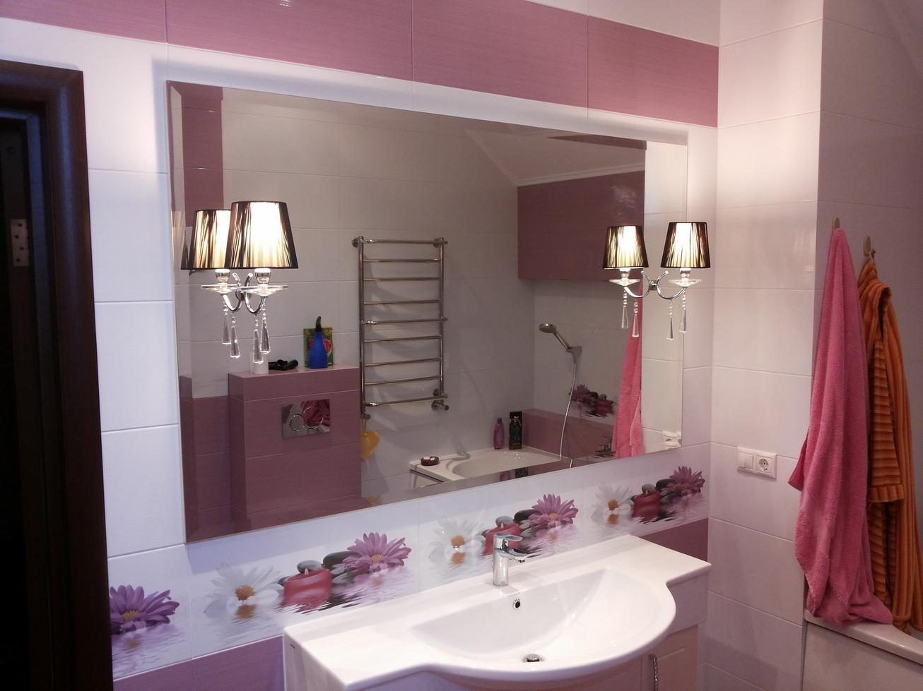 Зеркало для ванной с умывальником