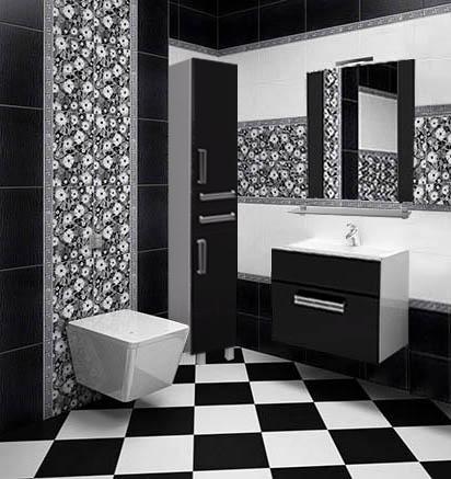 Черно-белые оттенки интерьера
