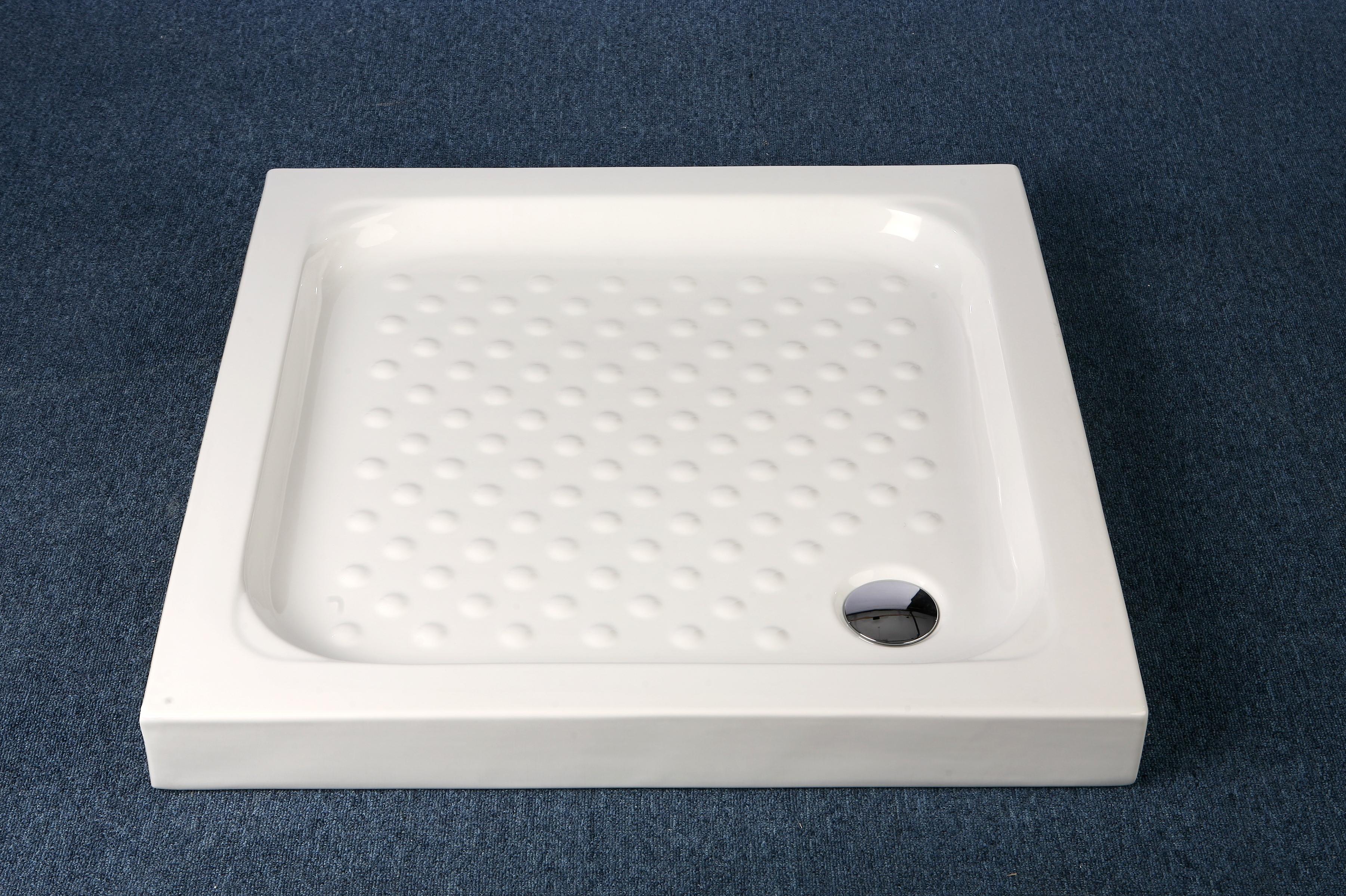 Душевой поддон керамический квадратный