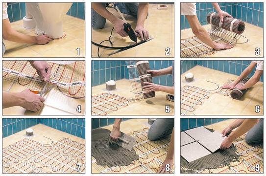 Тёплые полы электрические под плитку своими руками фото 98