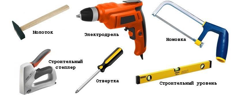 Инструменты, необходимые для монтажа панелей